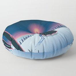 Forest Fire Floor Pillow