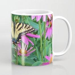 495 - Butterfly and Flowers Coffee Mug