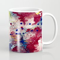 fireworks Mugs featuring Fireworks by Tia Hank