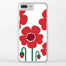 Red poppy designers flowers Clear iPhone Case