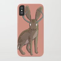 jackalope iPhone & iPod Cases featuring Jackalope by Floipoid