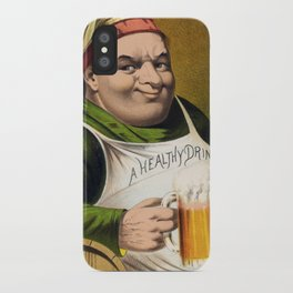 Vintage Lager Beer Advertisement iPhone Case
