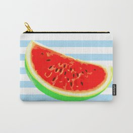 Watermelon, Summer Poster, Summer colors, blue, rounded Carry-All Pouch