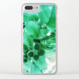 See Through Leaves Clear iPhone Case