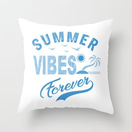 Summer Vibes Forever wb Throw Pillow
