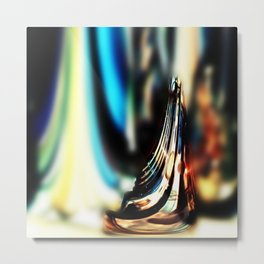 Reflective Refraction Metal Print