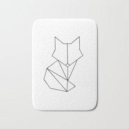 Geometric Fox - Black Bath Mat