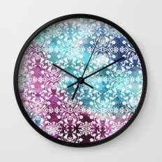 Motif Pattern_rainbow Wall Clock