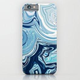 Design 144 blue swirls iPhone Case