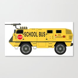 Armored Yellow School Bus Anti-Weapon Tank Canvas Print