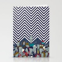 twin peaks Stationery Cards featuring Twin Peaks by Ale Giorgini