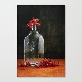 Still life with red Viburnum Canvas Print