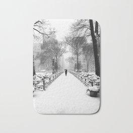 NYC Snow Day – Union Square Blizzard New York Bath Mat