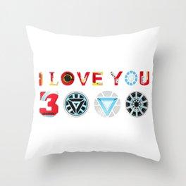 I Love You 3000 Throw Pillow