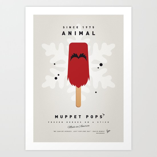 My MUPPET ICE POP - Animal Art Print