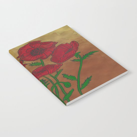 Vintage Poppies Notebook