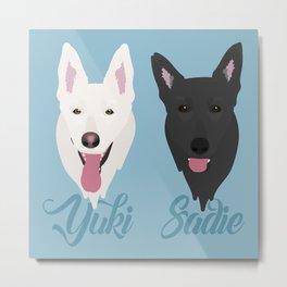 Yuki and Sadie Metal Print