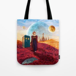 13th Doctor at Gallifrey Planet Tote Bag