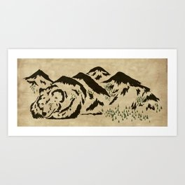 Sleepy Bear Mountain Art Print