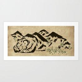 Sleepy Bear Mountain Art Print