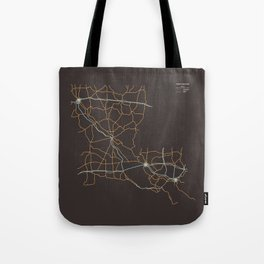 Louisiana Highways Tote Bag