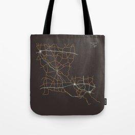 Louisiana Highways Tote Bag