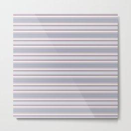 Mauve Blue Stripes Metal Print