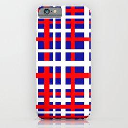 Patriotic Interlocking Stripes iPhone Case
