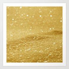 Glitter Gold Art Print