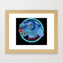 VeryVery Angry Dachshund Framed Art Print