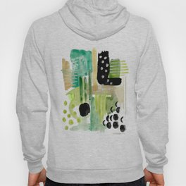 Garden Fern Abstract Hoody