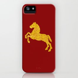 7 Petal Golden Lotus Horse For Chinese New Year of The Horse iPhone Case