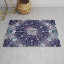 Winter mandala pattern Rug
