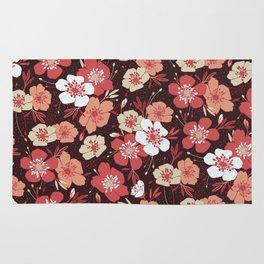 Coral flower pattern Rug