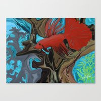 band Canvas Prints featuring Betta's Band by Distortion Art