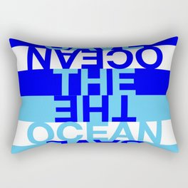 Save the Ocean Rectangular Pillow