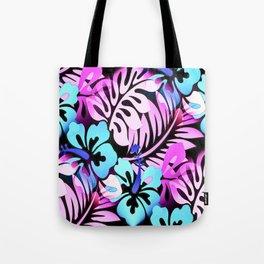 Hawaiian Flowered Shirt Print Pink Blue Tote Bag