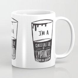 glass half full of emptiness Coffee Mug