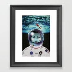 Miss Space Pilot Framed Art Print