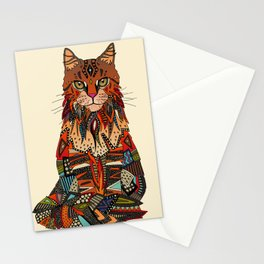 maine coon cat cream Stationery Cards