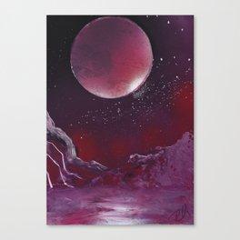 Purple Reflection Canvas Print