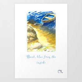 Boat Blue Inside Art Print