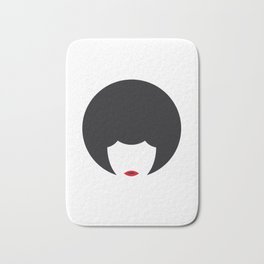 Afro woman icon Bath Mat
