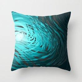 Complex Spiral-Aqua Throw Pillow