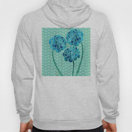 Blue Chrysanthemums Hoody