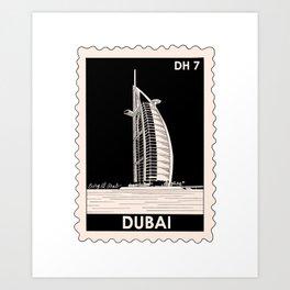 Burg Al Arab in Dubai Art Print