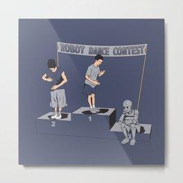 Robot Dance Contest Metal Print
