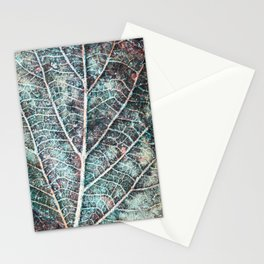 texture of a leaf Stationery Cards