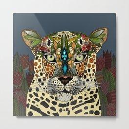 leopard queen blue Metal Print