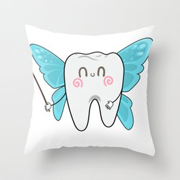 Tooth Fairy Dental Assistant Dentist Throw Pillow